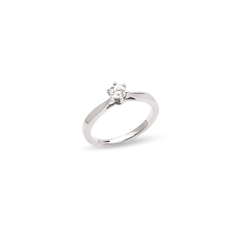 Alliance Or Blanc Solitaire 3 30gr 2mm Et 1 Diamant